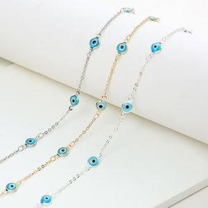 Lucky Eye Turkish Evil Eye Ожерелье Золотой Цвет Медная Цепочка 2020 Мода Ювелирные Изделия Подарки для Женщин Личности Женские Ожерелье1