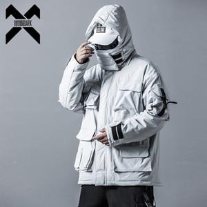 11 Bybb Karanlık Erkek Kış ceketler Streetwear Casual Kargo Parkas Taktikler Hoody Coat çok cepli Sıcak Erkek Dg506 Fonksiyon