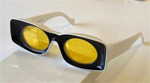 Nouveaux lunettes de soleil mode 400331 Conception spéciale Couleur carrée Cadre carré Lens rond de style avant-gardiste