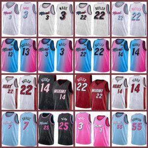 Дуэйн Дуэйн 3 Джимми Уэйд Тайлер 21 Батлер 14 Херро Баскетбол Джерси МайамиВысокая температураНовый BAM 13 Адебайо 3521 Новый