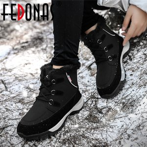 FEDONAS Newest Ladies Quality Snow Winter Warm Women Ankle Flats Platform Casual Basic Shoes Woman Brand Short Boots Q1201