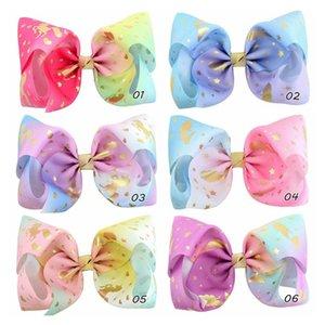 Imprimé Mode 8inch Grand Arc Clip Butterfly Star Golden Horse Pince à cheveux Big Hair Clip Handmade Accessoires pour filles 857 33Of