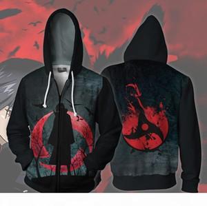 Naruto Uchiha Itachi Sharingan Hoodie Cosplay Naruto Anime Costumes Costumes Sweatshirts men women HoodieMX190923
