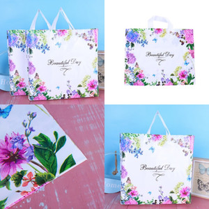 Women Fashion Packaging Bag Shopping Plastic Clothing Ornaments Packing Bags Colour Flower Butterfly Handbag Hot Sale 0 69hh F2
