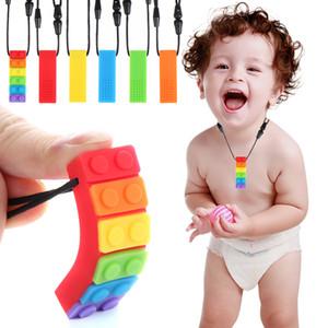 Nouveau bâton de dentition Enfants Silicone Silicone Teter De Dether Brick Chew Jouet Jouet Portable Bébé Food Grade Sensoriel Jouet Colliers