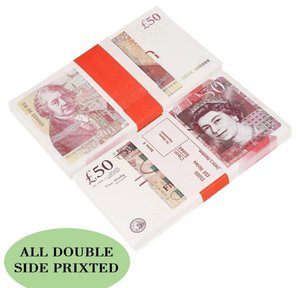 Великобритания Bantnote Fake Money Paper Gifts Играть в бумажные игрушки для печатных денег игрушки на открытом воздухе 100 шт. / Пакет