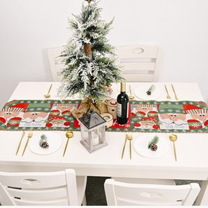 hot Christmas decoration table flag creative Snowman Santa Claus elk Christmas table cloth table home decoration T2I51604