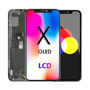 ل iPhone X XS XR XSMAX 11 شاشة LCD شاشة تعمل باللمس محول الأرقام استبدال التجميع الكامل