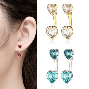 Heart Stud for women earrings 925 sterling silver earring Zircon Heart-shaped earrings Couple gift fine jewelry Love Stud Female