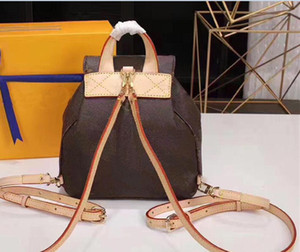 2021 Yeni Hakiki Deri Sırt Çantası Wome Çanta Çanta Kadın Moda Geri Paketi Omuz Çantası Çanta Presbiyopik Mini Paket Messenger Çanta