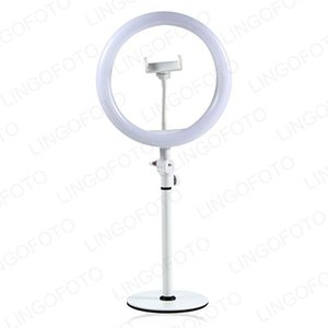 White Pink 10 Inch Ring Light With Desk Stand 3 Light Mode Live strem Video Making Photo Studio Accessories UC9949a