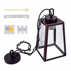 Hot selling Wide Pressure American Wrought Iron Glass Chandelier E26 Interface Black Painted Gold Painted Dining Light Chain Length 1M