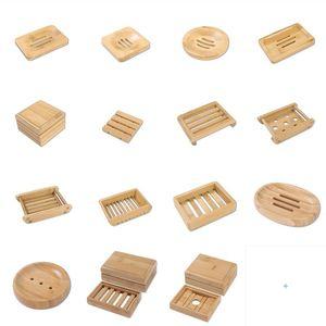 Multi-Stile Natürliche Bambus Seifenschalen Tablett Halter Lagerung Seife Rack Plattenkastenbehälter Tragbare Seifenhalter Aufbewahrungsbox
