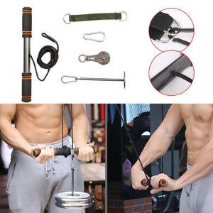 Fitness Braccio Blaster Trainer Bicipiti Strong Power Stick Pull Corda per Gym Forearm Fornisce Torace Workout Attrezzatura a rulli da polso