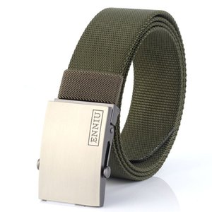 Nylon Heavy Outdoor Canvas Tactics Male Army Fans Automatic Roller Smooth Button Casual Jeans Belt