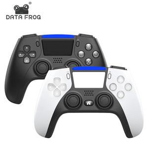 وحدة تحكم بلوتوث لاسلكية ل PS5 PS4 صدمات التحكم المقود Gamepad Game Controller مع حزمة الشحن السريع