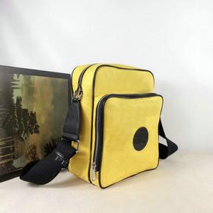 Nuevos lujos amarillos de moda Crossbody Bolsos de la cuadrícula MessageTotes Bolsa de compras para hombres Men Desinger Canvas Sling Handbag Cross Body Bolsos