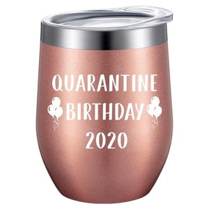 Birthday Novelty Tumbler Mug 12oz Stainless Steel Vacuum Insulated Wine Glass (with Lid) Birthday