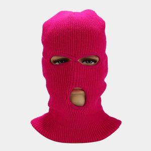 Face Mask Windproof Outdoor Masks Tactical Riding Headgear Breathable Balaclava Winter Warm Ski Hat Full Face Masks 3 Hole Headgear PPC4666