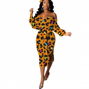 Fashion Elegant Empire Dress For Women Sexy Slash Neck Backless Slit Dress 2021 New Arrival Floral Print Office Lady Party