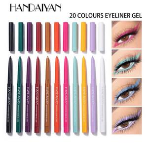 HANDAIYAN 20 colors Eyeliner Gel Waterproof Eye Pencil Sweat-proof Non-smudge Eyeliner Pen Ultra-fine Eyeliner Colorful Eyes Makeup