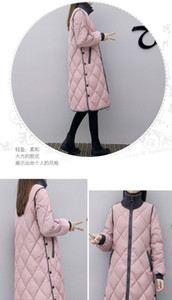Medium and long plus-size loose and thick down jacket Over-the-knee cotton-padded jacket coat Autumn and Winter new style