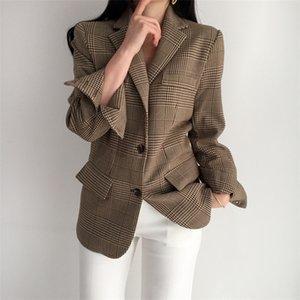 Blazer Cbafu Bilderrahmen für koreanische Langarm-Frauen Vintage Mantel