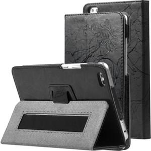 30pcs Stampa Flower PU Cover Custodia in pelle PU per Huawei MediaPad Honor Gearplay WaterPlay 8.0 pollici HDL-W09 HDL-AL00 Tablet con porta a mano Penna stilo