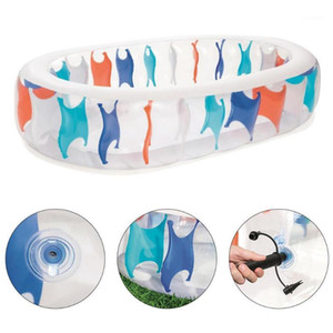 Oval Transparent Inflatable Swimming Pool Family Blow Up Pool Inflatable For 2-4 Children Boys Girls Summer Have Fun1