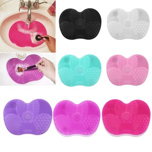 Silicone Makeup Brush Cleaning Pad Mat Brush Washing Tools Cosmetic Eyebrow Brushes Cleaner Tool Scrubber Board Makeup Cleaning
