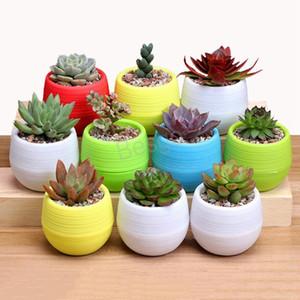 Gardening Flower Pots Small Colorful Nursery Flower Planter Pots Garden Decor Succulent Plant Plastic Pots Home Planters Supplier BH4430 TQQ