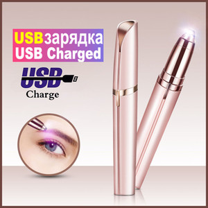 50mAh Electric Eyebrow Trimmer Pen Eyebrow Epilator USB Painless Eye Brow Trimmer for eyebrows remover Women Mini Makeup Tool