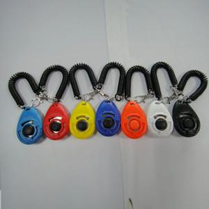 7 Renkler Köpek Eğitmen ABS Evcil Eğitim Aracı Düğmesi Tıklama Siren Bilek Bandı TRACKable PET Eğitmenler Köpekler Malzemeleri Plastik 2 8sn M2