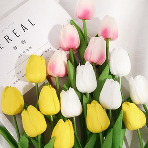 Tulips Artificial Flowers Home Decorative Bouquet Multicolor Tulip for Wedding Layout Decoration Fake Flower Garden Decoration
