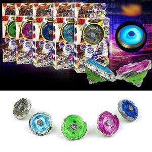 4d Metal Mksafn Fusion Masters Лезвия Led Light Top Starter Spinning Gyro Светящиеся игрушки с пусковой Spinner заливов Bable в коробке WDG3