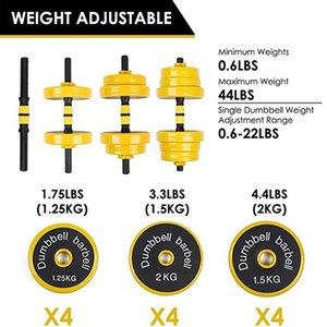 44lbs Adjustable Dumbbells Barbell Set For Men And Women Weight Dumbbells Home Fitness Weight Set Gym Workout Exercise Training jllFdv