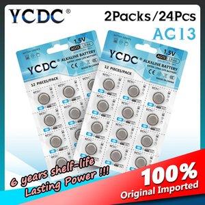 24pcs 1.5v Ag13 Lr44 Lr 44 Pilas Boton Coins Cells Lr1154 L1154 Gp76 Sr44sw Watch Clock Computers Remote Controls Battery sqcVtL whole2019