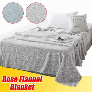 BeddingOutlet Flannel Fleece Blanket Soft blue Throw Blanket Plush Bedspread Bed Cover for Bed Sofa Warm Manta de cama