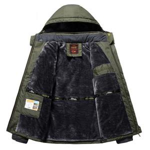 Winter Fleece Size Jackets Men Windbreaker Waterproof Windproof 9XL Mens Outwear Plus Raincoat Coat Overcoat Military Parka Warm 201214 Udvh