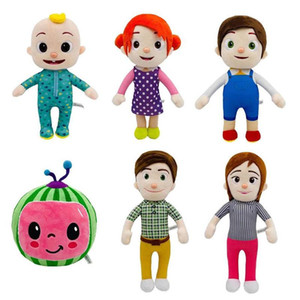 Christmas New Year Boy Girl Cocomelon Plush Toys Xmas Kid Soft Stuffed Dolls Toys Cartoon Toy Gift Family 2021