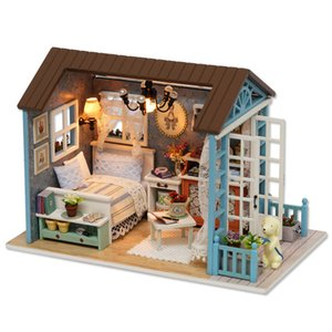 Sylvanian Families Diy Doll Hand Assembled Model House Kids Toys Wooden Gifts Children Juguetes Brinquedos