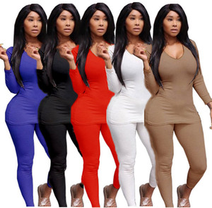 women sweatsuits fall winter clothing plain solid tracksuits plus size outfits 2 pieces sets hoodie leggings 3XL sportswear loungwear 3992
