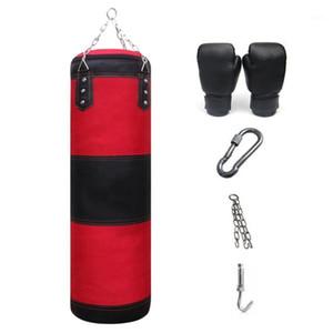 Sac de poinçonnage de boxe Entraînement Salle de sport Salle de sport Suspending Heavy Kick Sandbag Equipement de Body Equipment EXERCICE-LOURD BOXING SAC1