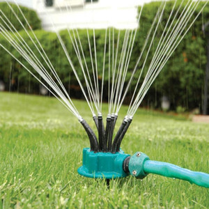 360 Degree Circle Rotating Water Sprinkler Garden Sprinklers Automatic Watering Grass Lawn Multi-Head Nozzles Garden Tools
