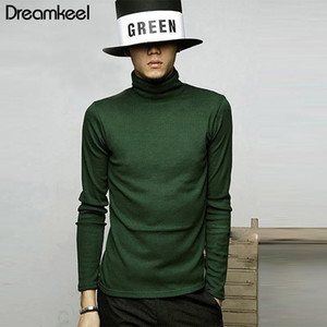 Men's Sweaters 2021 Autumn Winter Brand Knitted Pullovers Sweater Turtleneck Solid Color Casual Slim Fit Y