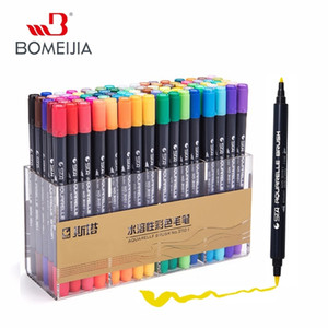 STA 80Colors Double Head Artist Soluble Colored Sketch Marker Brush Pen Set For Drawing Design Paints Art Marker Supplies 201125