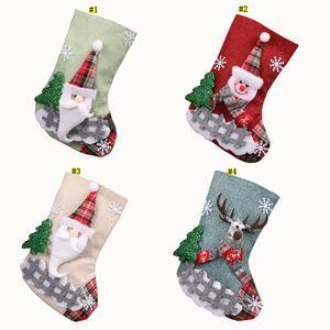 Creative christmas Candy Stocking Gift Bag Christmas Trees Decorations Socks Hanging On Wall Christmas Decorations ZZC3033