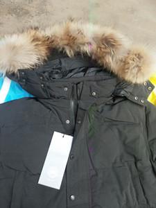 Winter Fourrure Down Parka Homme Jassen Chaquetas Oberbekleidung Wolf Pelz Kapuze Fourrure Manteau Wyndham Kanada Daunenjacke Mantel Hiver Doudoune