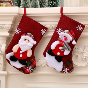 Christmas Christmas tree hanging party tree decoration Santa sock gift candy bag children cute gift bag fireplace tree