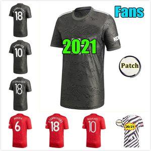 20 21 Manchester Soccer Jerseys United VAN DE BEEK 2020 2021 Fans & Player Version Man Utd RASHFORD FERNANDES Football Shirt Men kids kit